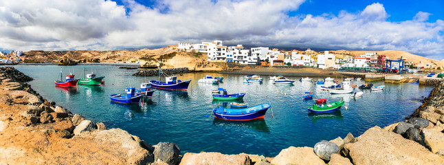 Traditional fishing village in Tenerife island - picturesque San Miguel de Tajao. Canarian islands of Spain