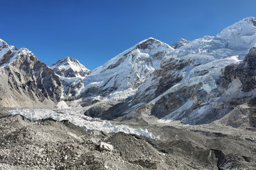 Changtse and Everest peaks from Kalapattar, 5545m