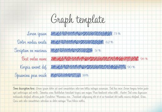 Hand-drawn Style Horizontal Bar Graph Layout