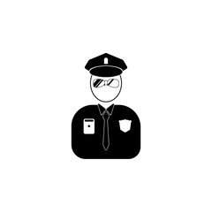 avatar of a policeman icon.Element of popular avatars icon. Premium quality graphic design. Signs, symbols collection icon for websites, web design,