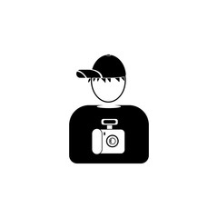 avatar of the photographer icon.Element of popular avatars icon. Premium quality graphic design. Signs, symbols collection icon for websites, web design,