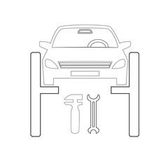 design element symbol icon automobile service theme02