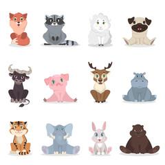 Baby animals set.