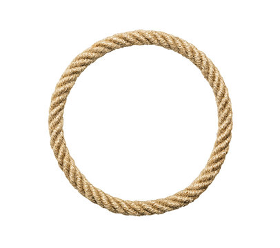 Circle rope frame, including clipping path