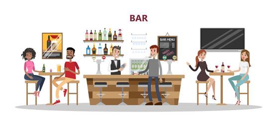 People at bar.