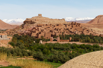 Ait Benhaddou,fortified city, kasbah or ksar, along the former caravan route between Sahara and Marrakesh in present day Morocco.