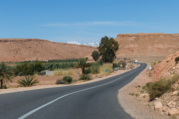 Sahara, Morocco : road trip. Jeep tours on the desert are very popular tourist attraction