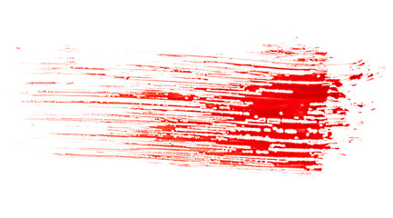Blood isolated on white background