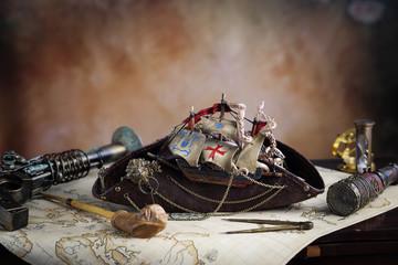 Stemapunk pirata mappa del tesoro
