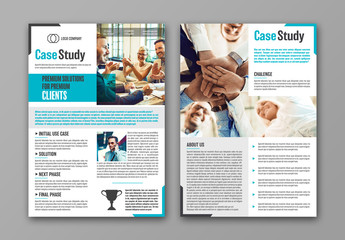 Business Case Study Layout with Blue Accents 1