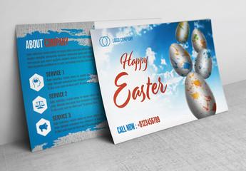 Blue Sky Easter Postcard Layout 1