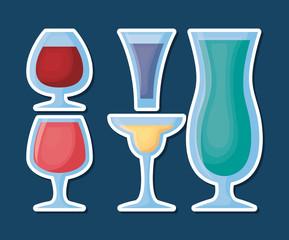 Cocktails drinks design