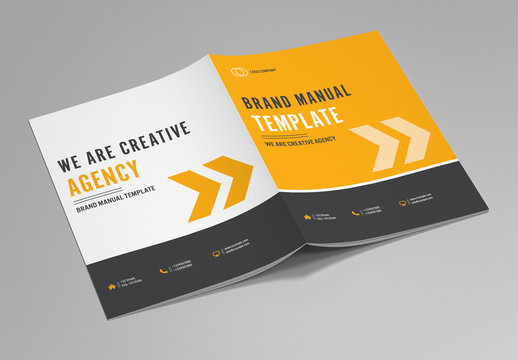 Brand Manual Layout with Orange Accents 1