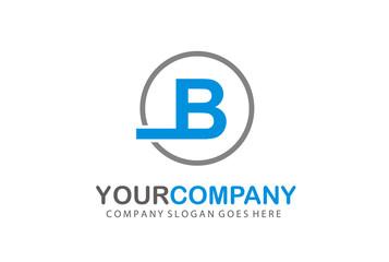Circle Logo Letter B Vector Design