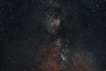 The starry night sky. The milky way. Amazing photo large exposure.