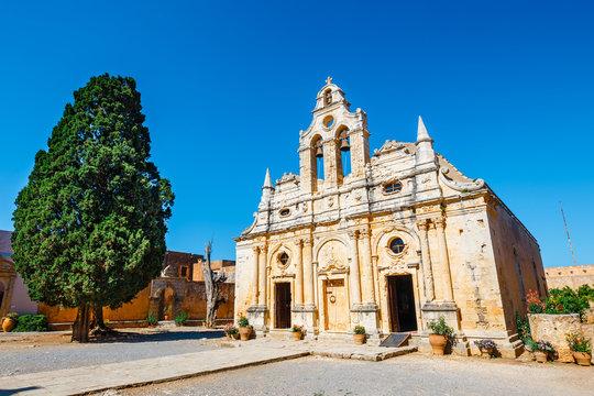Basilica of Arkadi Monastery on Crete Island, Greece