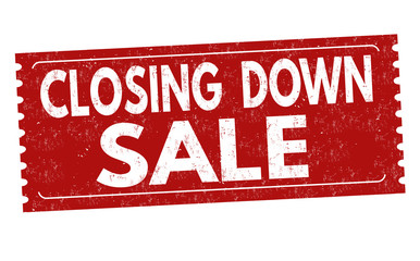 Closing down sale grunge rubber stamp