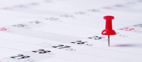 Kalender, Termin