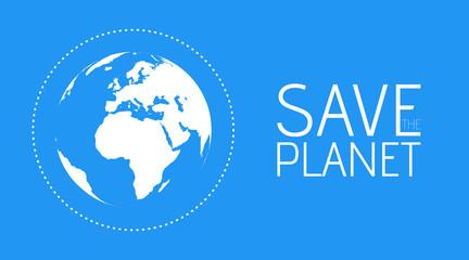 Save the World vector symbol
