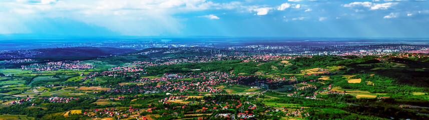 Panorama of Belgrade, Serbia from Avala tower