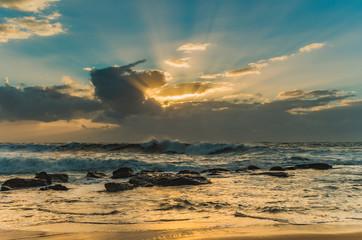 Surfs Up! - Rocky Sunrise Seascape