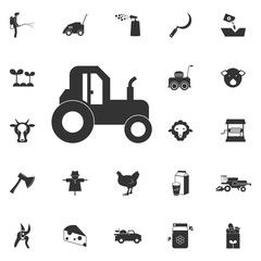tractor icon. Element of farming and garden icons. Premium quality graphic design icon. Signs, outline symbols collection icon for websites, web design, mobile app