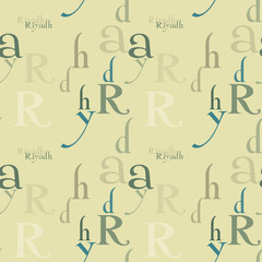 Riyadh seamless pattern. Autentic artistic design for background.