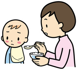 離乳食をいやがる赤ちゃん