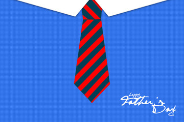 Happy fathers day card design with Big Tie