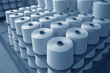In industrial sewing machine spun yarn, many thread together Fotomurales