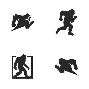 barefoot logo vector icon illustration collection