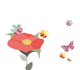 Springs flowers background