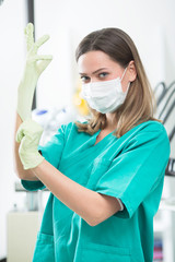 Dental hygienist posing