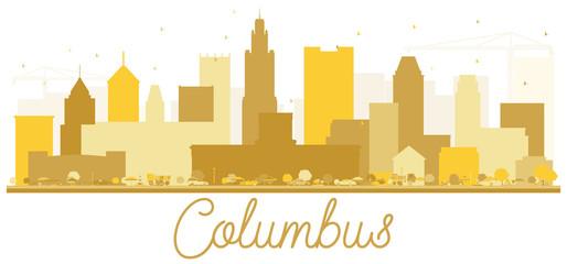 Columbus USA City skyline golden silhouette.