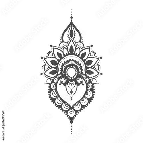 Vector Henna Mehndi Stock Image And Royalty Free Vector Files On