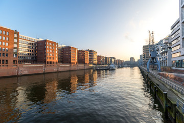 Hafencity in Hamburg am Morgen