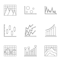 Information stand icons set. Outline set of 9 information stand vector icons for web isolated on white background
