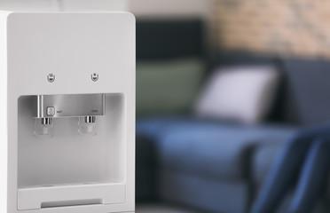 Modern water cooler, indoors