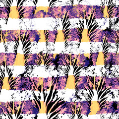 Seamless Hand Drawn Watercolor Pattern. Bright Design for Wallpaper, Tile, Textile, Fabric, Wrapping, Packaging, Camouflage Print.