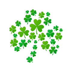 Shamrock concept illustration. Vector shamrock shape