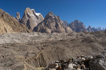 Trango tower family in Karakoram range, K2 trek, Pakistan