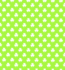 Clover shamrok seamless pattern on light green background vector illustration. Happy St. Patrick's Day