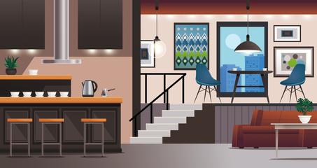 Kitchen Living Room Interior Design