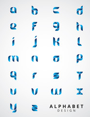 Alphabet Modern Design collection. Retro Type Font Disco,