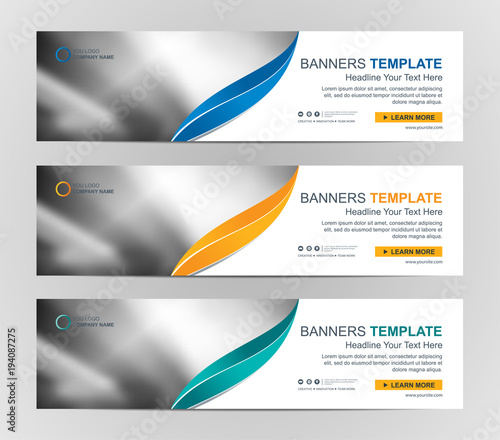 Abstract web banner design background or header templates stock abstract web banner design background or header templates maxwellsz