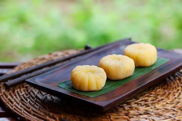 Mochi japanese dessert with mango