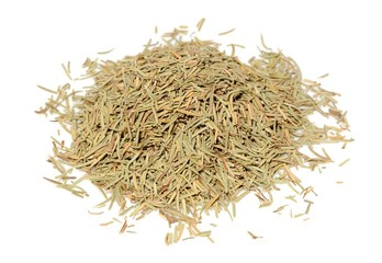 Pile of Dried Rosemary Isolated on White Background