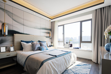 interior of modern bedroom