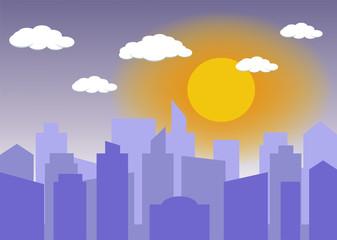 Daylight city Background