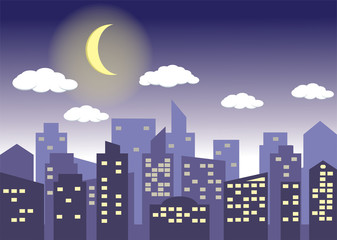 City night light Background